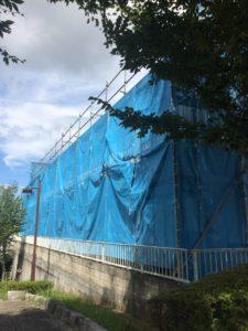 外壁塗装 養生シート