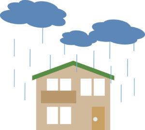 屋根から雨漏れ